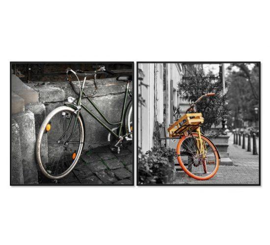 nakura-cuadro-diptico-bicicletas